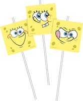 6 SpongeBob Flexi Medallion Straws