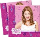 20 Violetta Luncheon Napkins