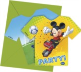 Mickey Mouse Goal Football Party Invitations and Envelopes 6pk