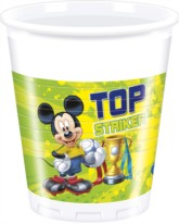 Mickey Mouse 'Goal' Plastic Cups 8pk