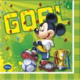 Mickey Mouse 'Goal' Paper Napkins 20pk