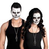 Halloween Metal Skeleton Necklace