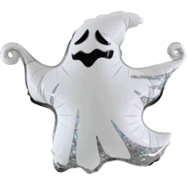 "Halloween Holographic Scary 17"" Ghost Foil Balloon"