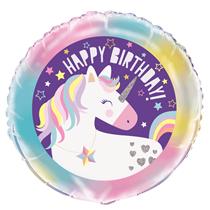 "Unicorn Party Happy Birthday 18"" Foil Balloon"