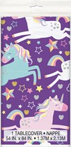 Unicorn Party Plastic Rectangular Tablecover