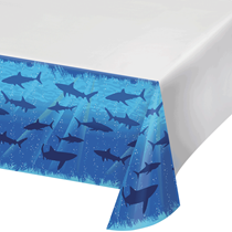 Shark Splash Party Plastic Tablecover