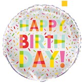 "Happy Birthday Sprinkles 18"" Foil Balloon"
