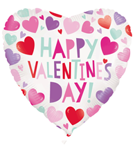 "Happy Valentine's Day Hearts 18"" Foil Balloon"