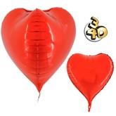 """Red 3D Heart 23"""" Foil Balloon"""