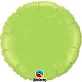 "Lime Green 18"" Round Foil Balloon"