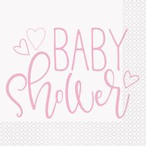 Baby Shower White Lunch Napkins 16pk