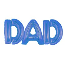 "Father's Day Blue Dad 16"" Air Fill Foil Balloon"