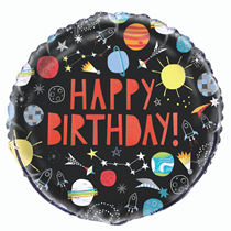 "Happy Birthday Outer Space 18"" Foil Balloon"