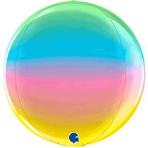 "Grabo Rainbow Globe 15"" Foil Balloon"
