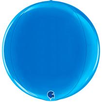 "Grabo Blue Globe 15"" Foil Balloon"