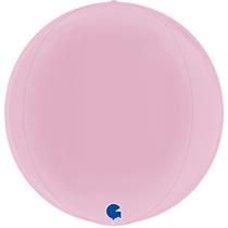 """Grabo Pastel Pink Globe 15"""" Foil Balloon"""