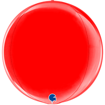 "Grabo Red Globe 15"" Foil Balloon"