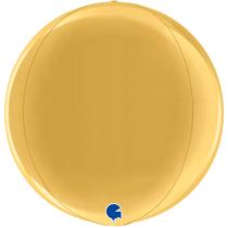 "Grabo Gold Globe 15"" Foil Balloon"