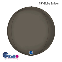 "Platinum Grey 15"" Globe Foil Balloon"