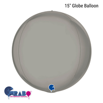 "Pure Platinum 15"" Globe Foil Balloon"