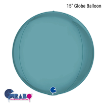 "Platinum Tenerife Sea 15"" Globe Foil Balloon"