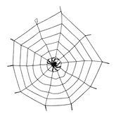 Halloween 1.5M Spiderweb With Spider