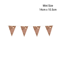 Mini Rose Gold Foil Flag Banner Bunting 3M