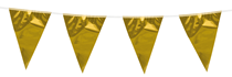Mini Gold Flag Banner Bunting 3M