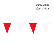Standard Red and White Flag Banner Bunting 10M