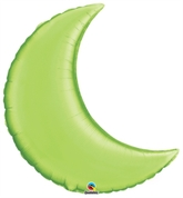 "Lime Green 35"" Crescent Moon Foil Balloon"