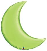 "Lime Green 35"" Crescent Moon Foil Balloon"