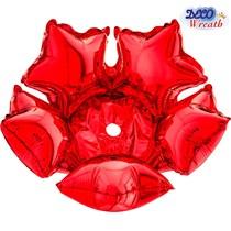 "Red Deco Star 14"" Balloon Base / Neck"