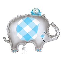 "Blue Elephant 29"" Large Foil Balloon"