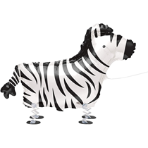 "Zebra Walking Pet 30"" Foil Balloon"