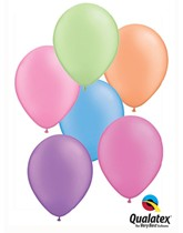 "11"" Neon Assortment Latex Balloons - 25pk"