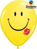 "Smiley Kiss Face 11"" Latex Balloons 50pk"