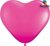 "11"" Wild Berry Latex Heart Balloons 100pk"