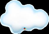 """Puffy Cloud 30"""" Foil Balloon"""
