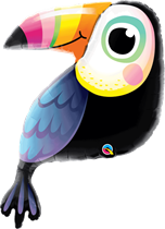 """Colourful Toucan 41"""" Foil Balloon"""