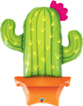 """Potted Cactus 39"""" Foil Balloon"""