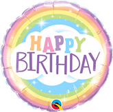 """Happy Birthday Rainbow 18"""" Foil Balloon"""