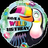 """Toucan Wild Birthday 18"""" Foil Balloon"""