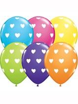 "Big Hearts Assorted 11"" Latex Balloons 50pk"