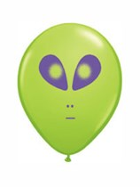 """5"""" Green Alien Latex Balloon - 100pk"""
