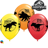 "Jurassic World Fallen Kingdom 11"" Latex Balloons 25pk"