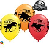 "Jurassic World Fallen Kingdom 11"" Latex Balloons 6pk"