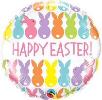 "Easter Bunnies Lineup 18"" Foil Balloon"