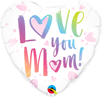 "Love You Mum 18"" Foil Heart Balloon"