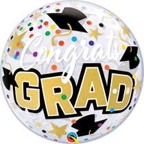 "Congrats Grad Stars 22"" Bubble Balloon"