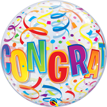 Congratulations Around Bubble Balloon
